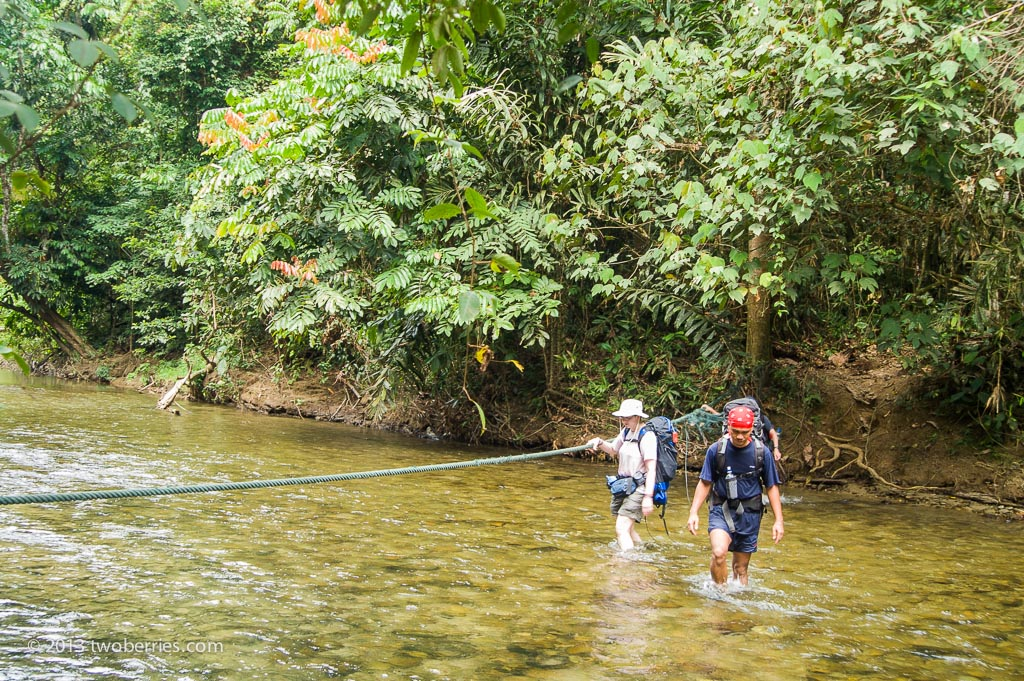Out of the boat and on foot - river crossing