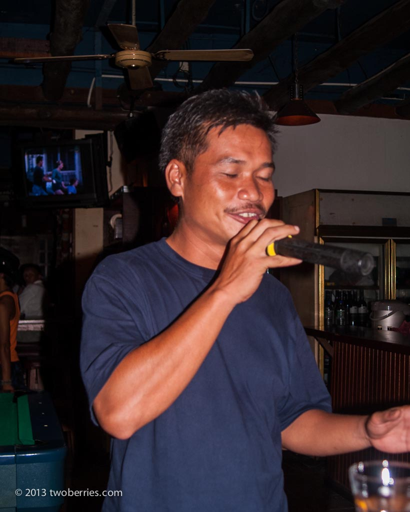 Chris gives us his rendition of 'My Way' in a kareoke bar