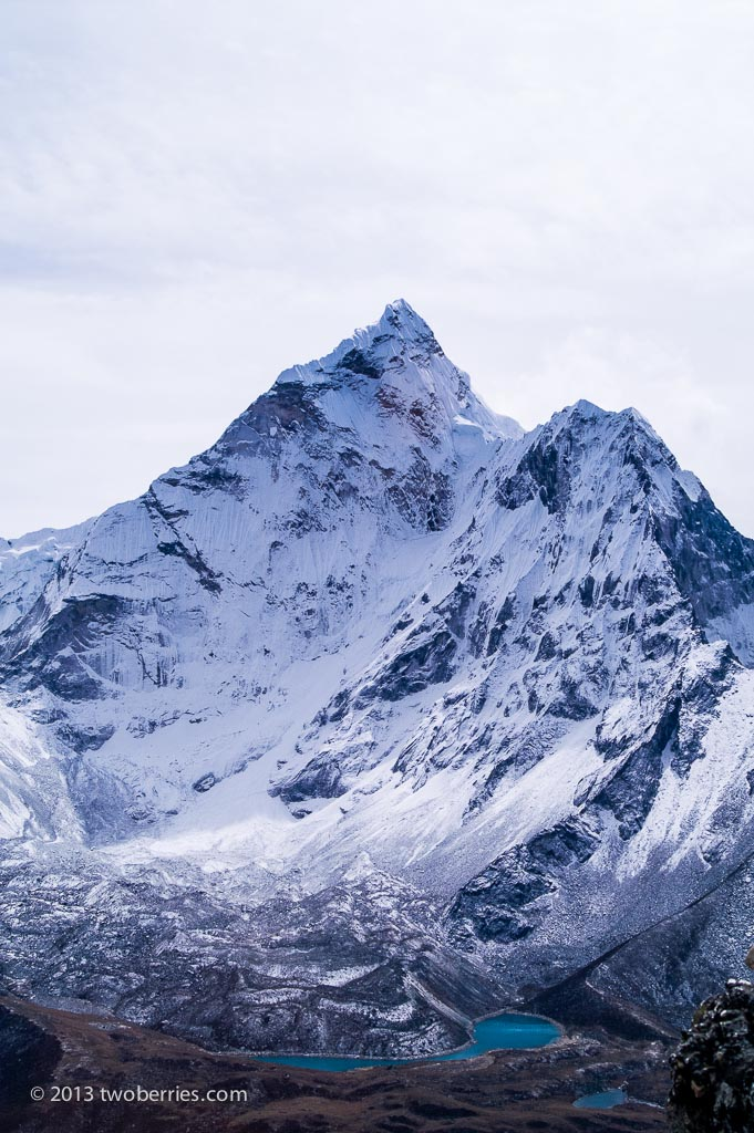 The other side of Ama Dablam from Narastan Peak