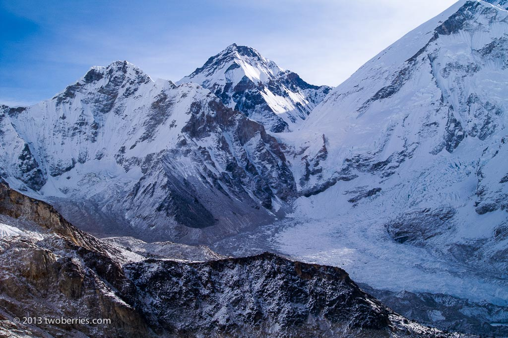 View from the summit of Kala Pattar - looking down on Everst Base Camp