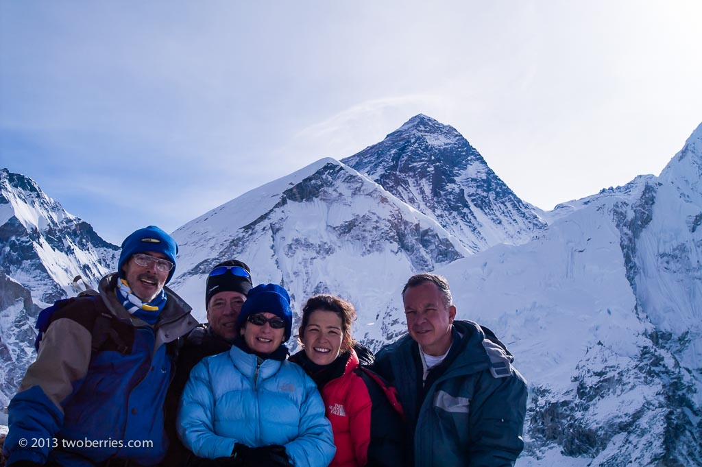 The five who made it on the summit of Kala Pattar