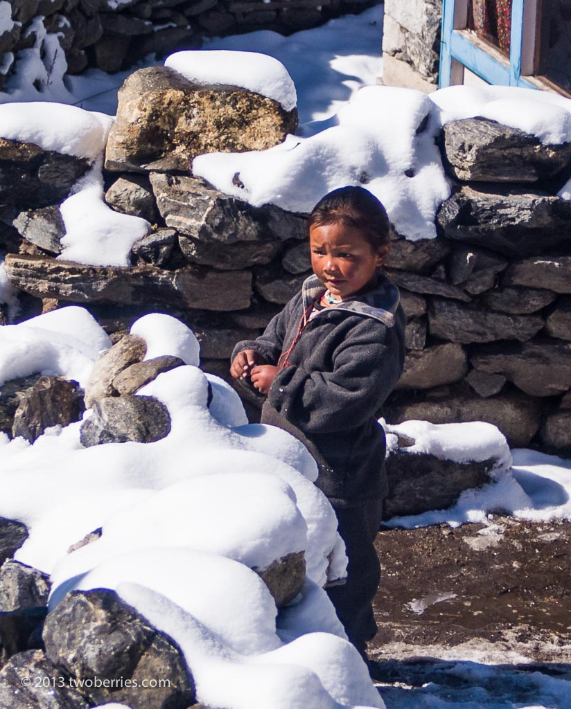 Sherpa child in Pangboche