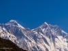 Everest and Lhotse from Namche Bazaar