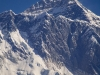 Telephoto shot of Everest from Namche Bazaar