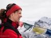 Lara Erlingsdottir on the summit of Narastan Peak
