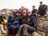 The trekking group on the summit of Narastan Peak (5000m)