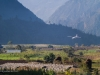 Flight landing at Lukla