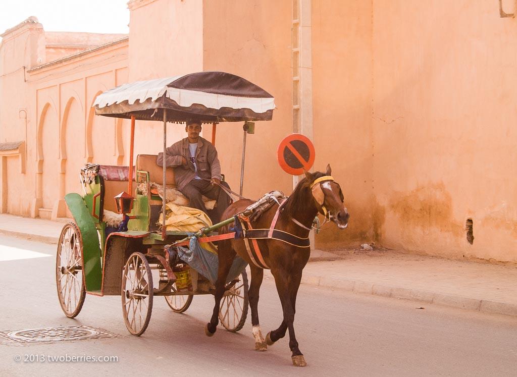 Horse-drawn taxi in Taroundant