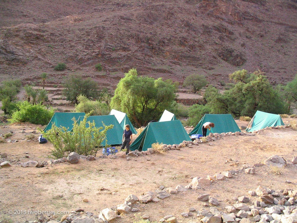 Camp at the end of Day 4 of the trek