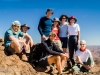 The trekking group on the summit of Jebel Aklim (2597 metres)