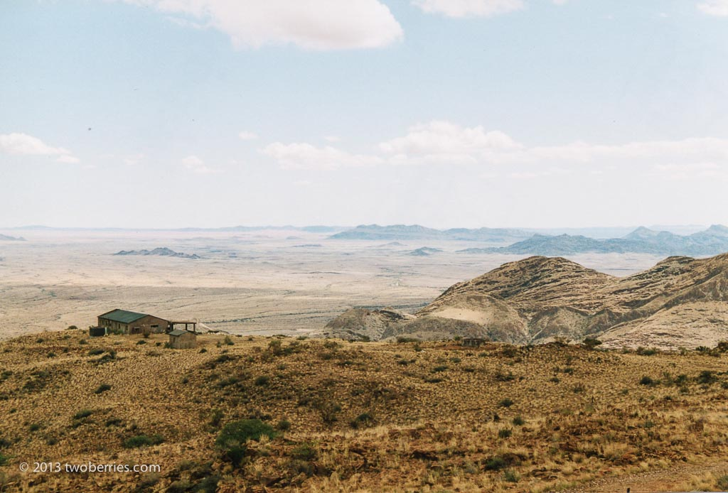 Looking out to the Namib desert from the Naklauft mountains