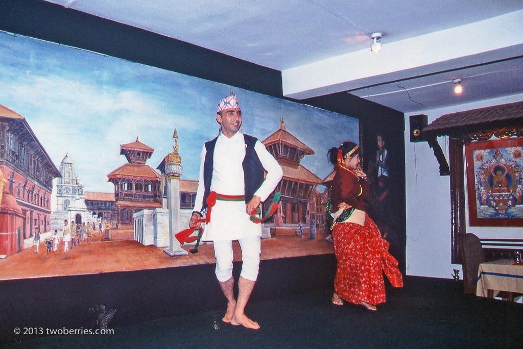 Nepalese dancers in Kathmandu