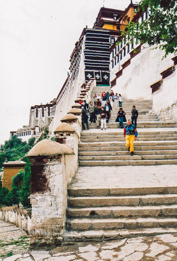 Steps at the entrance to the Potala Palace