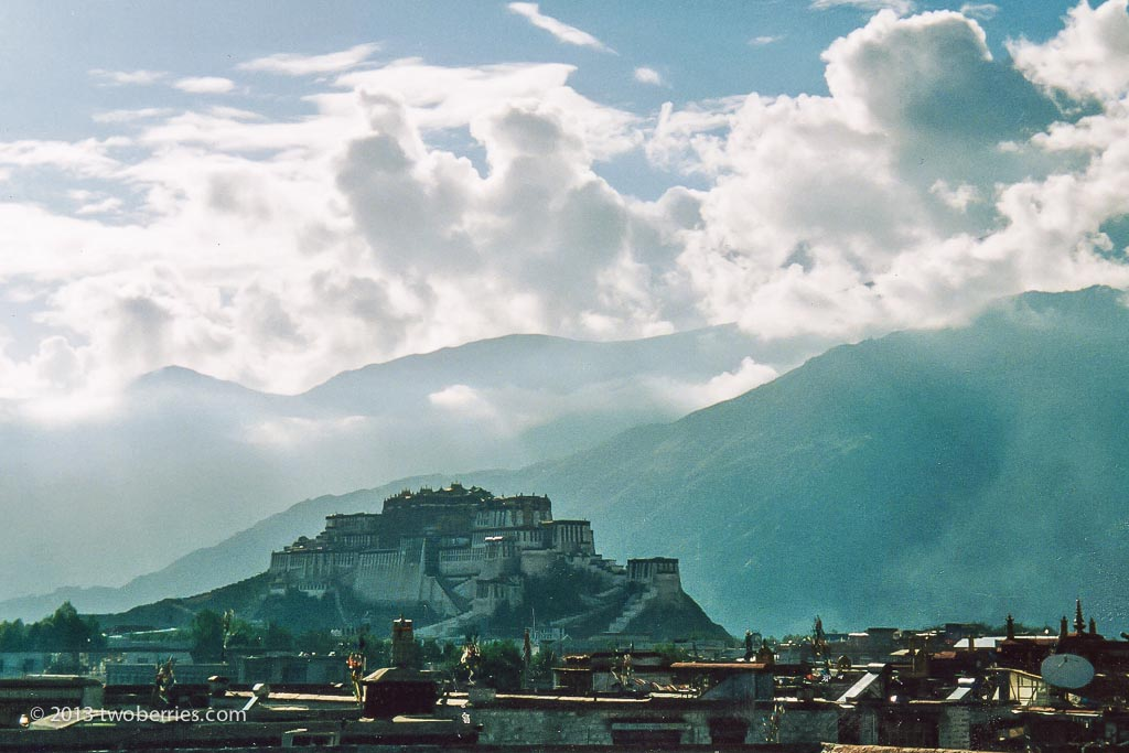 Potala Palace from across Lhasa