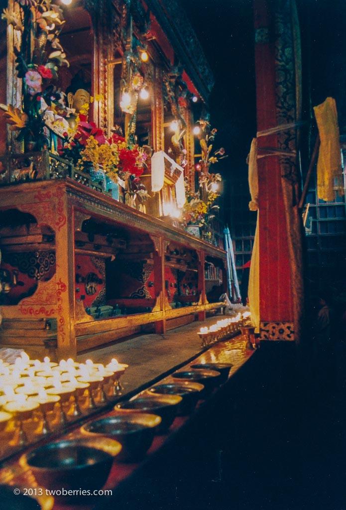Shrine in the temple at Tsurpu