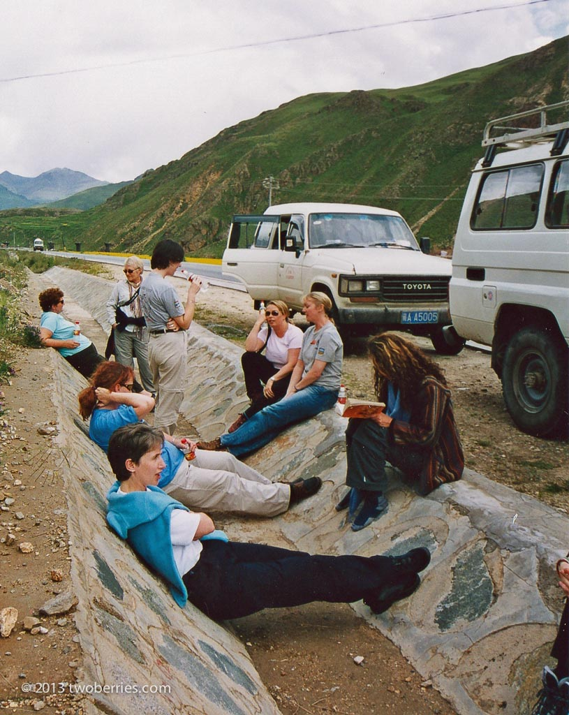 Breadown on the road to the Lhachen La