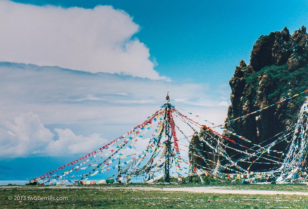 Shrine at Tashidor Gompa, Namtso
