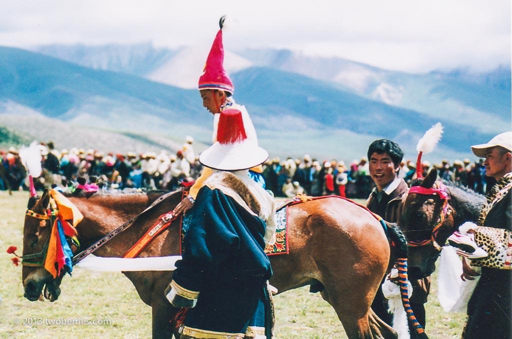 Jockey at the horse races, Damzhung