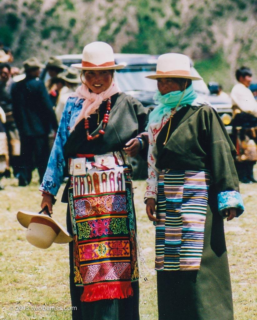 Tibetan girls, Damzhung