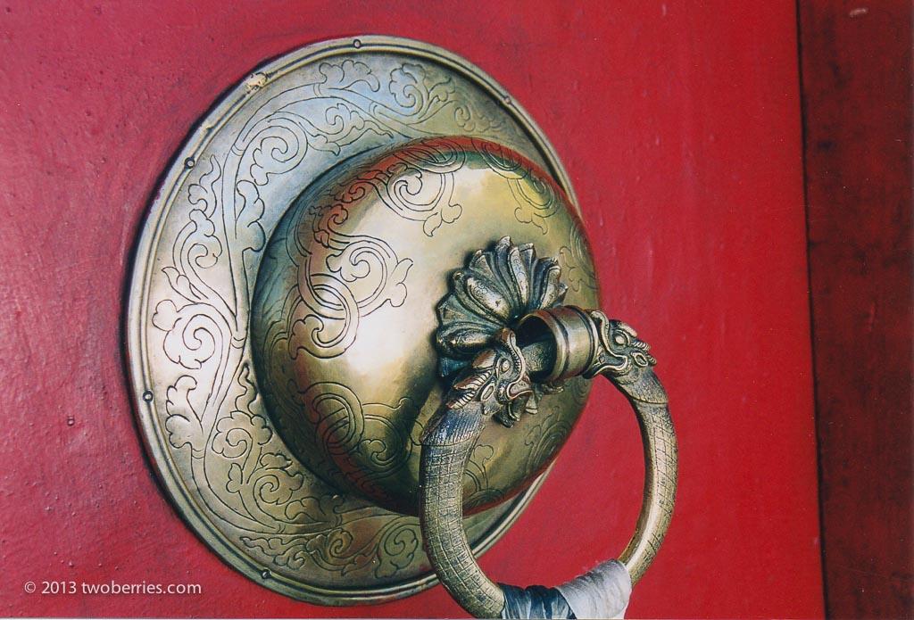 Door handle, Zhashenlunbu Monastery, Shigatse